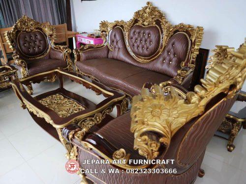 Gambar Sofa Tamu Jati Calista 3211