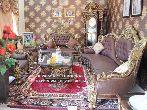 Gambar Sofa Tamu Ukir Jati Mewah Calista
