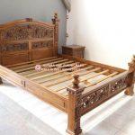 Tempat Tidur Jati Ukir Rahwana Mawar