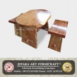 Set Kursi Teras Trembesi Solid Wood