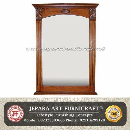 Cermin Minimalis Vintage Jati Mewah