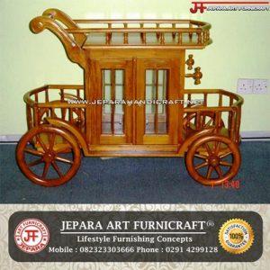 Trolley Kayu Jati Jepara Murah