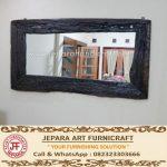 Cermin Antik Kayu Rel