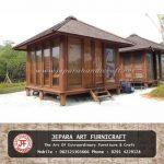 Gazebo Rumah Minimalis Kayu Kelapa