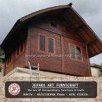 Gazebo Rumah Minimalis Kayu Kelapa Atap Sirap