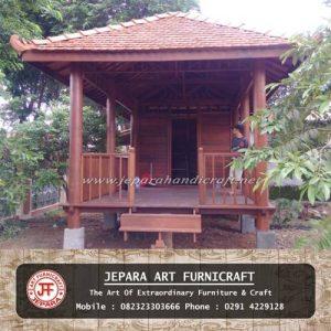 Gazebo Rumah Minimalis Kayu Kelapa Sulawesi