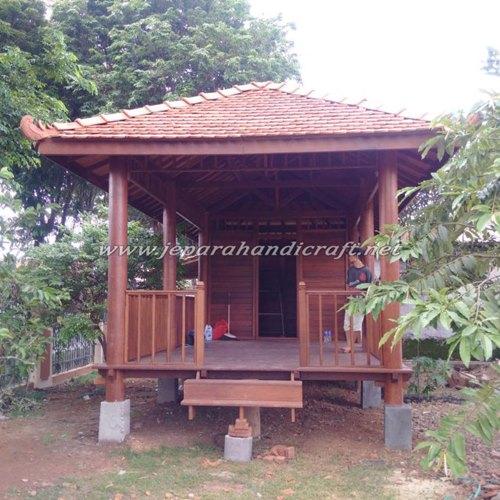 Gambar Gazebo Rumah Minimalis Kayu Kelapa Sulawesi 6