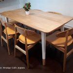 Kursi Meja Makan Cafe Scandivian Modern