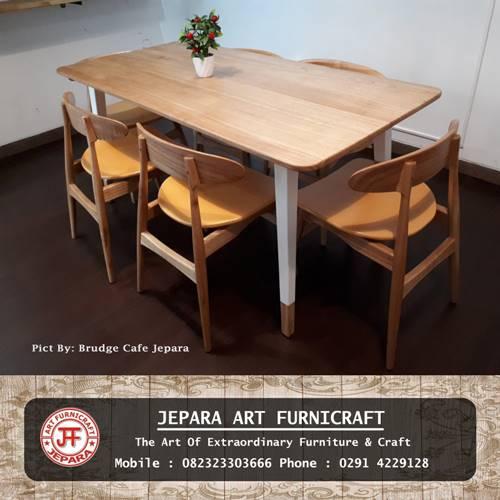 Gambar Kursi Meja Makan Cafe Scandivian Modern