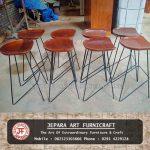 Set Meja Kursi Bar Cafe Jati Industrial