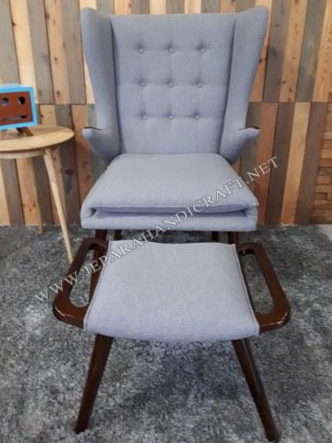 Jual Kursi Sofa Minimalis Replica Papa Bear Hans Wegner Murah Asli Jepara