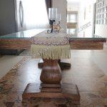 Meja Kursi Makan Jati Antik Rustik Wash