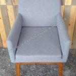 Kursi Makan Minimalis Alpha Arm Chair