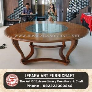 Meja Jati Ukir Centre Table Hotel
