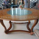 Meja Jati Ukir Centre Table Hotel