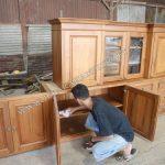 Kitchen Set Jati Minimalis Kolonial