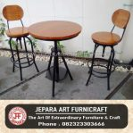 Set Meja Kursi Bar Jati Industrial