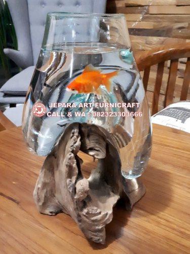 Aquarium Kaca Akar Kayu Jati Unik