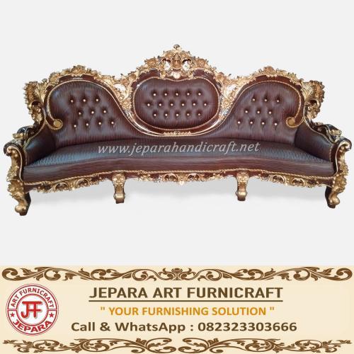 Kursi Tamu Sofa Jati Royal Calista