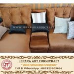 Sofa Modern Minimalis Grace Brown Velvet