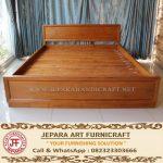 Tempat Tidur Minimalis Jati Marva