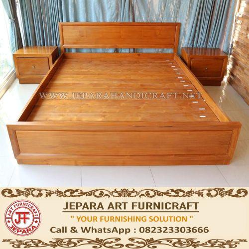 Jual Tempat Tidur Minimalis Jati Marva Harga Murah