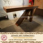 Meja Bar Minimalis Antik Solid Wood Kaki Tiga