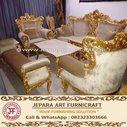 Promo Set Sofa Tamu Mewah Classic Eolo murah