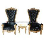 Set Sofa Mewah Princess Black Gold Elegant