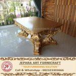 Set Meja Kursi Makan Mewah Classic Minerva Gold