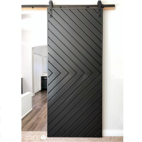 Pintu Rumah Kayu Jati Geser Minimalis Modern
