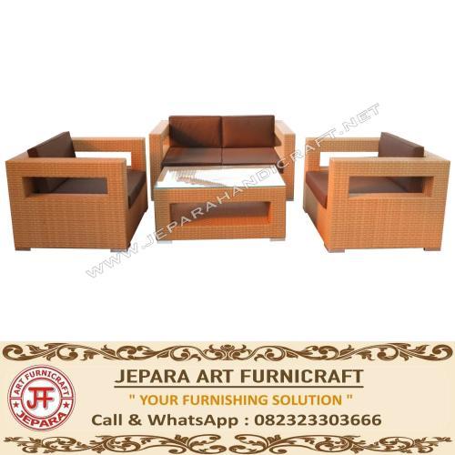 Jual Sofa Minimalis Rotan Sintetis Modern Exclusive Jepara Murah