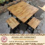 Set Kursi Makan Minimalis Cafe Laminasi