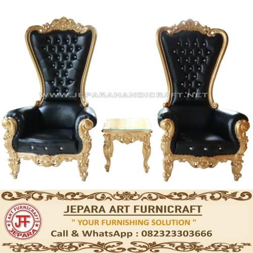 Jual Set Sofa Mewah Princess Black Gold Elegant Terbaru Murah