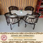 Set Kursi Tamu Jati Minimalis Betawi Dark Brown