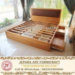 Tempat Tidur Jati Minimalis Sugi Jepara