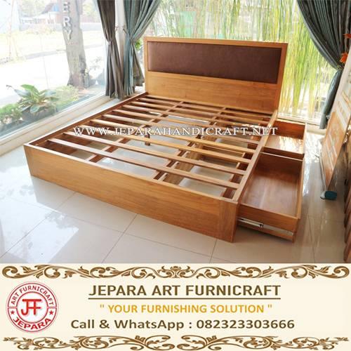 jual tempat tidur minimalis kayu jati harga murah