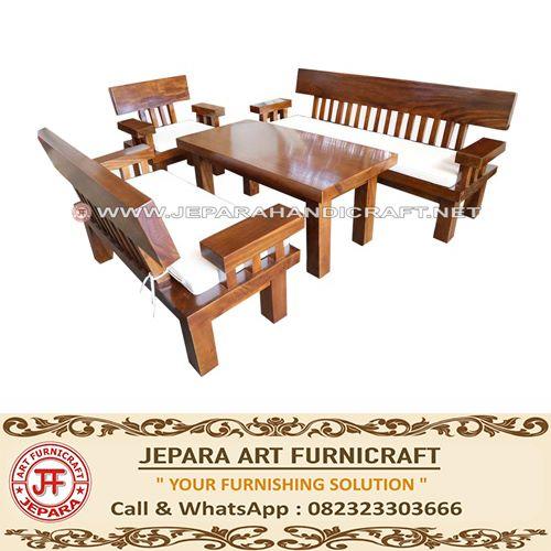 Gambar kursi tamu minimalis antik trembesi solid wood