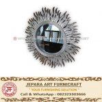 Cermin Dinding Klasik Matahari Silver