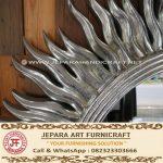 Cermin Dinding Klasik Matahari Silver Mewah
