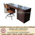 Meja Kantor Minimalis Jati Industrial