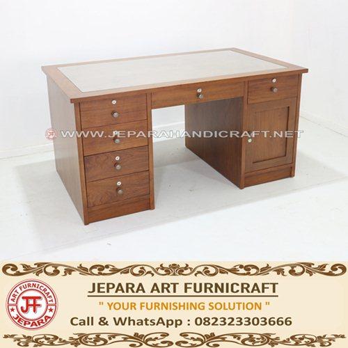 Meja Kantor Minimalis Jati Aswin