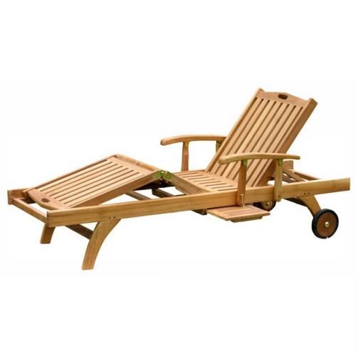 Indonesia Teak Garden Sun Loungers Furniture Wholesale
