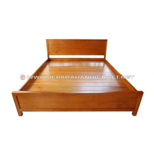 Tempat Tidur Minimalis Jati Harlev Jepara