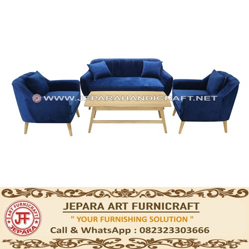 Jual Set Sofa Tamu Jati Minimalis Marry Terbaru