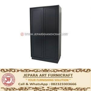 Lemari Pakaian Jati Minimalis Black Marva