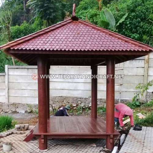 Jual Gazebo Kayu Kelapa Pasak 3 x 2 Meter Jepara