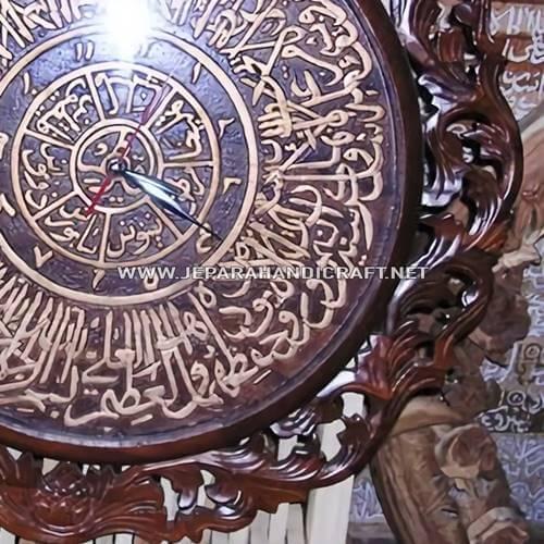 Jam Dinding Kaligrafi Ayat Kursi Jati Terbaru