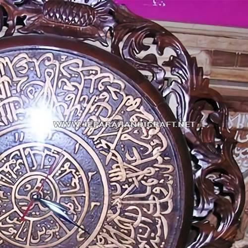 Jam Dinding Kaligrafi Ayat Kursi Jati Terpercaya
