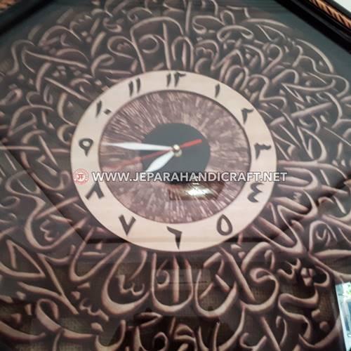 Jam Dinding Kaligrafi Ayat Kursi Prowolon Kualitas Terbaik